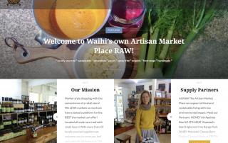 Raw Artisan Marketplace website homepage Paulownia